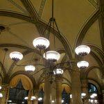 The high ceilings in Cafe Central