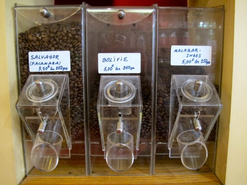 Coffee beans from all over the world