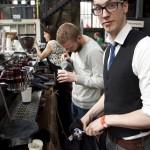 Jonatan and Lex working at the True Artisan bar