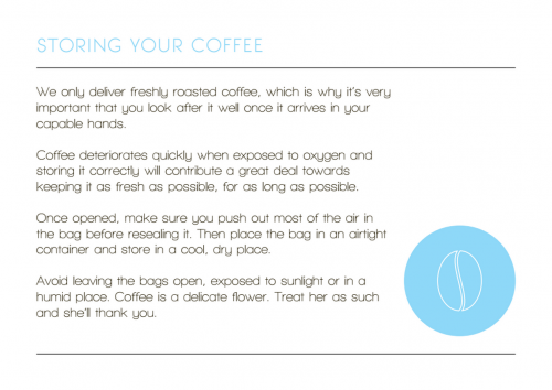 Storing your coffee