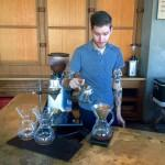 Maxwell making pour overs