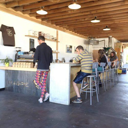 View of the bar from the entrance (burning man tights included)