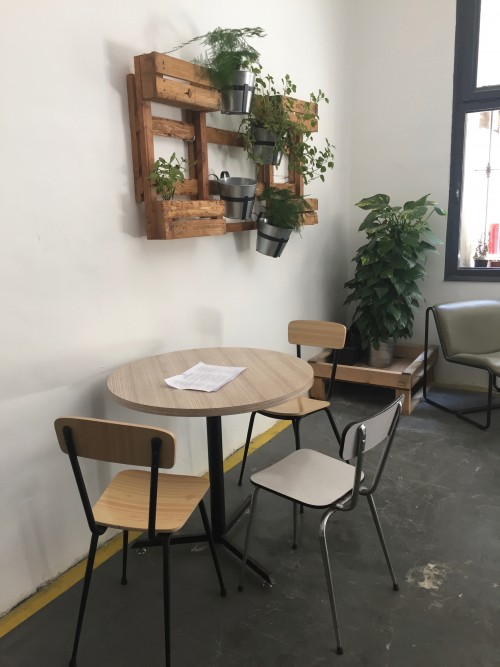 Seating corner with plants