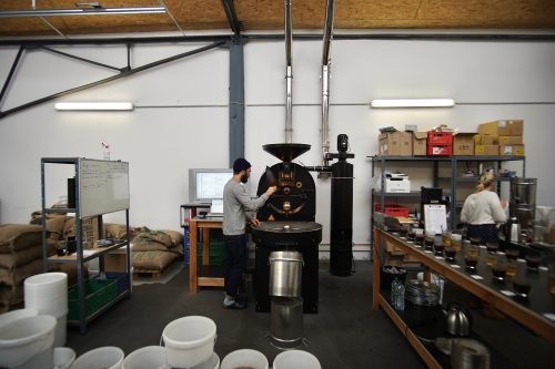 Wide angle view of the roastery