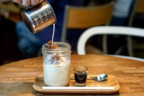 Ice cube latte