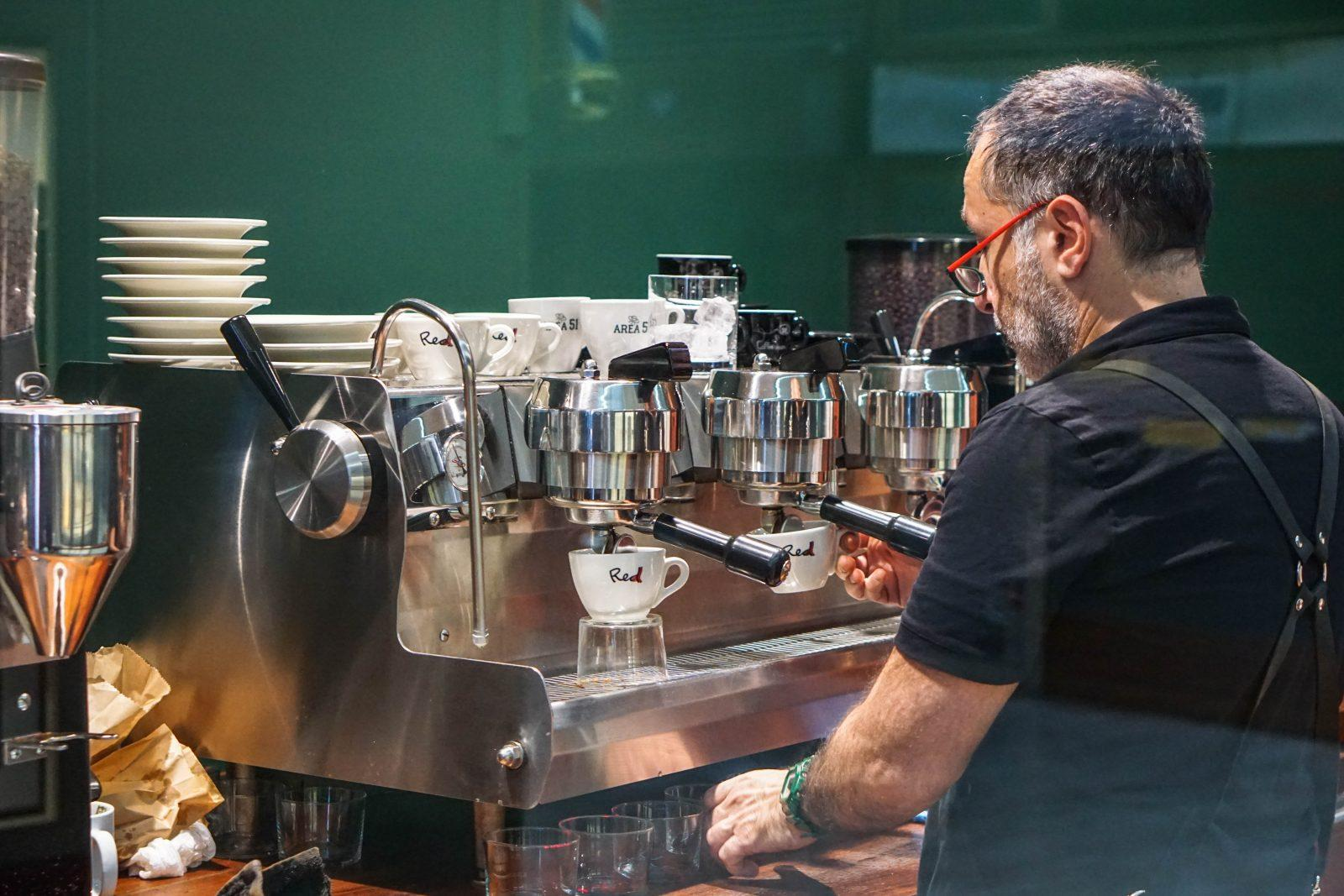 The three-group Synesso is always put to work