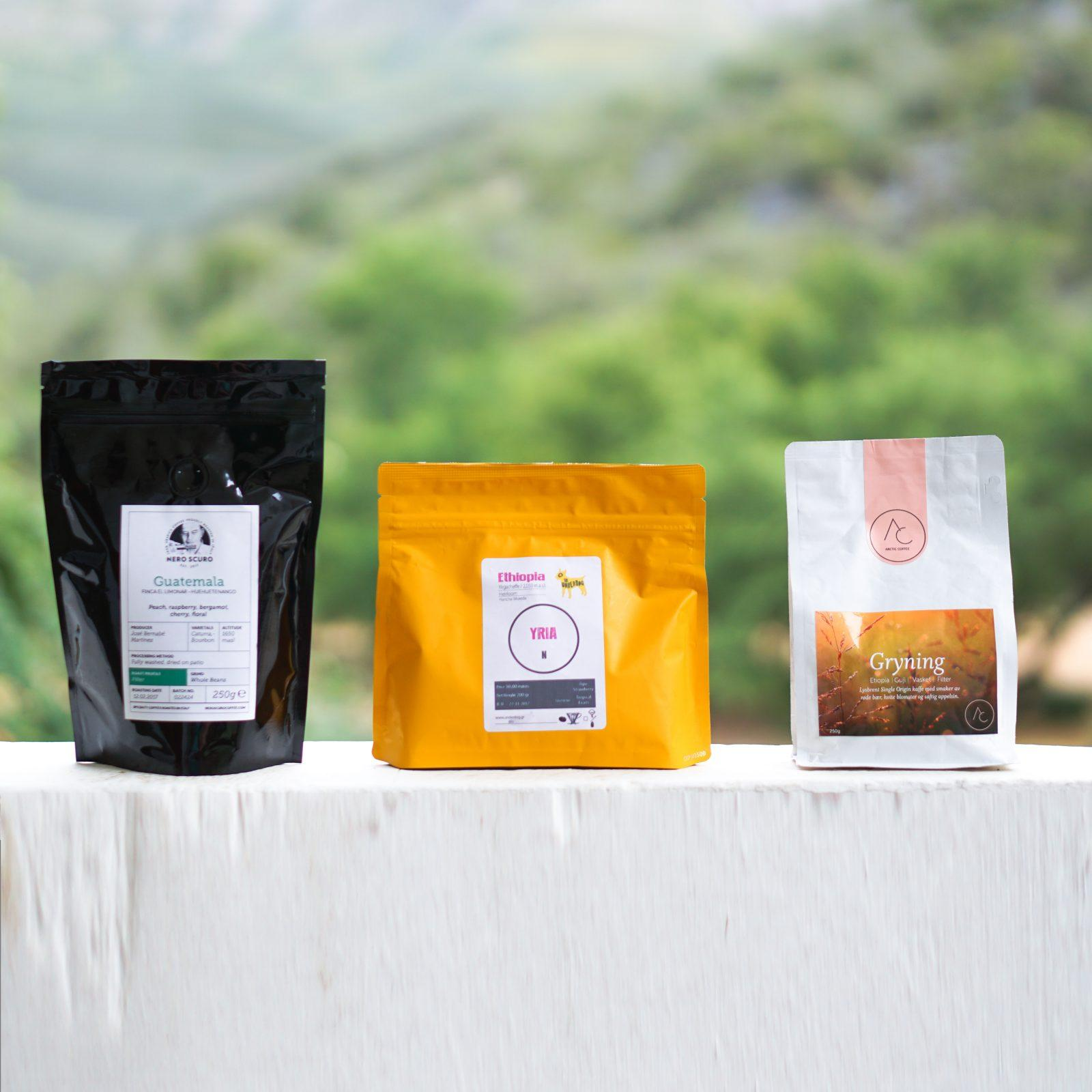 In our January '18 coffee box: Nero Scuro, The Underdog & Arctic