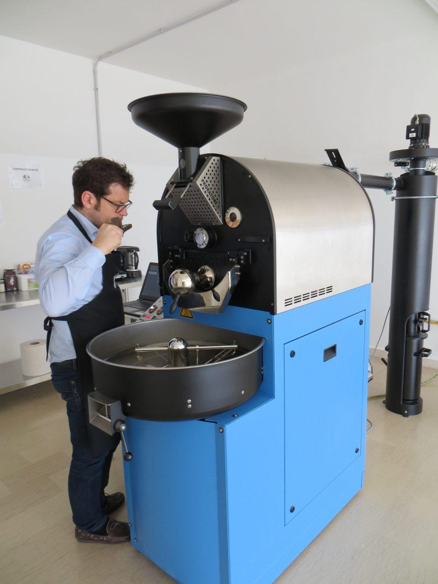 Founder and head roaster Paolo Tessarolo