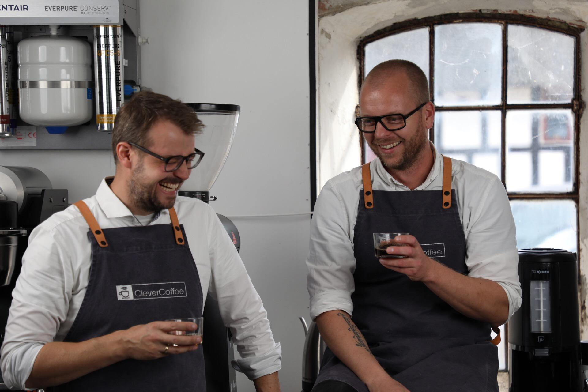 CleverCoffee - Lindy Brogaard (R) and Lars Frello (L)