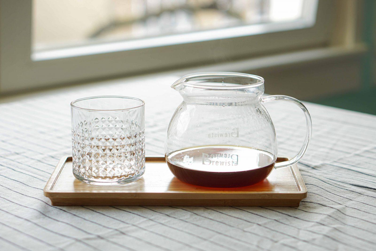 Coffee server and glas
